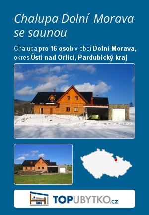 Chalupa Dolní Morava se saunou - TopUbytko.cz
