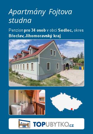 Apartmány Fojtova studna - TopUbytko.cz